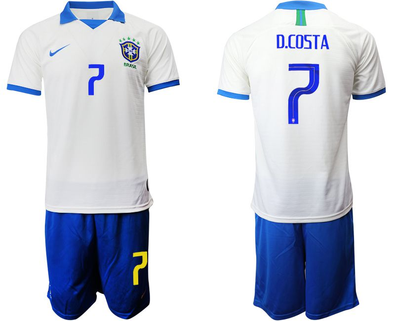 Men 2019-2020 Season National Team Brazil white special edition 7 Soccer Jerseys