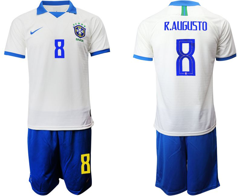 Men 2019-2020 Season National Team Brazil white special edition 8 Soccer Jerseys