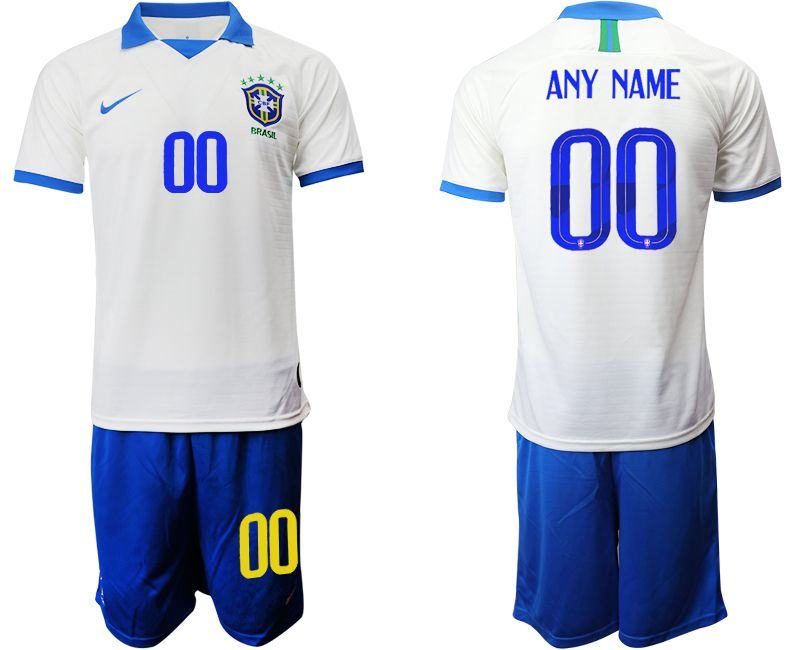 Men 2019-2020 Season National Team Brazil white special edition customized Soccer Jerseys