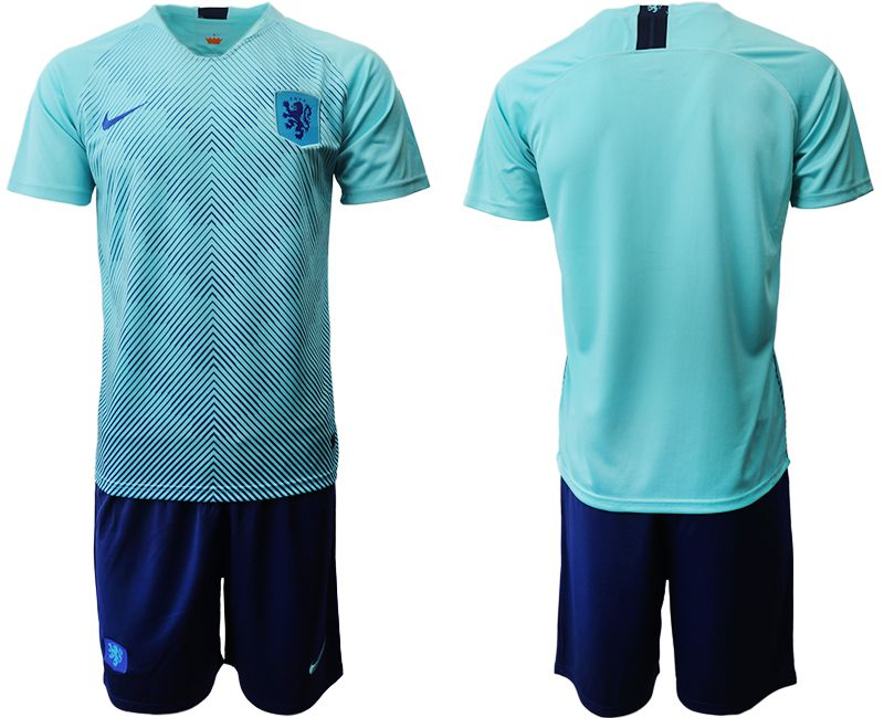 Men 2019-2020 Season National Team Netherlands away blue Soccer Jerseys