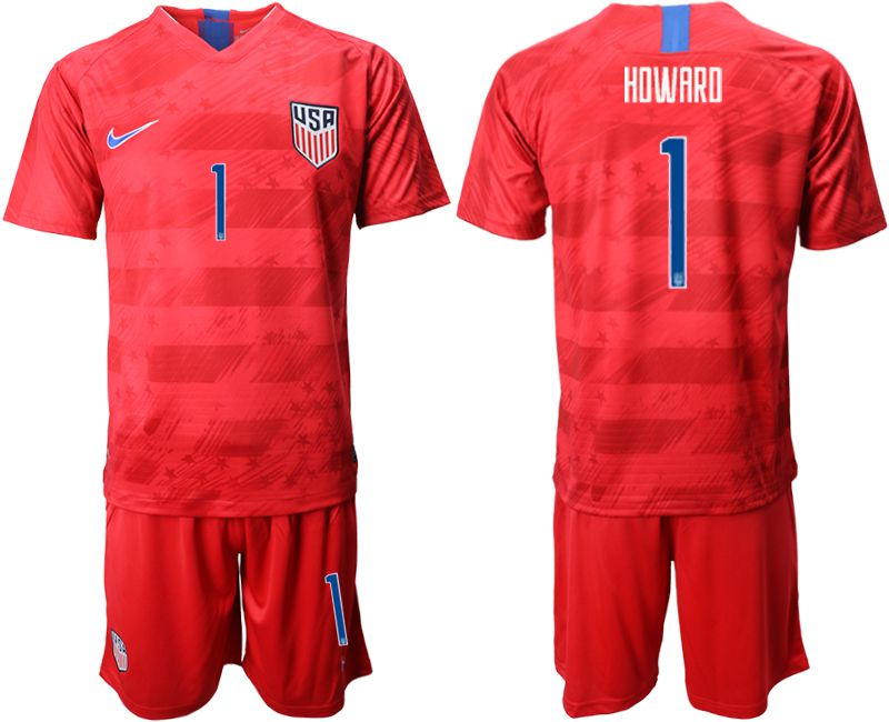 Men 2019-2020 Season National Team United States away 1 red Soccer Jerseys