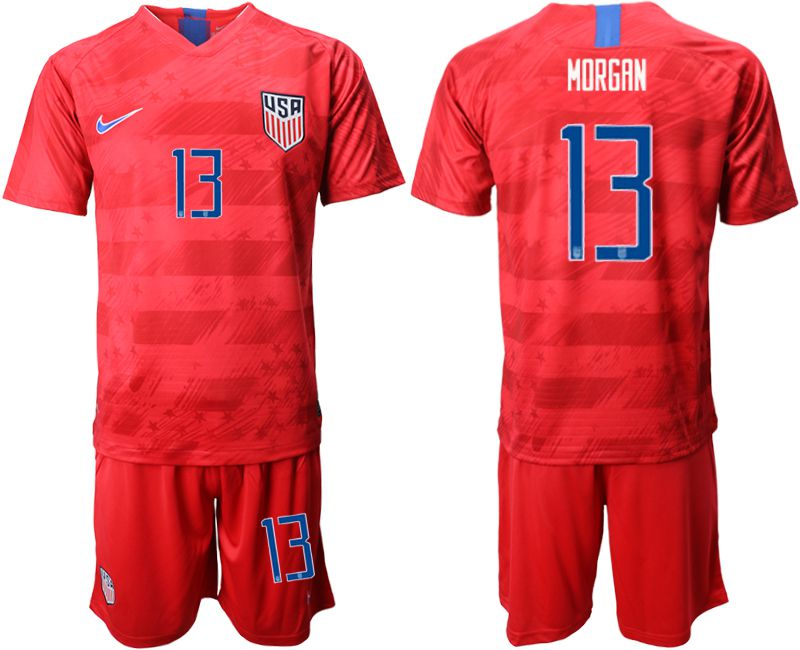 Men 2019-2020 Season National Team United States away 13 red Soccer Jerseys