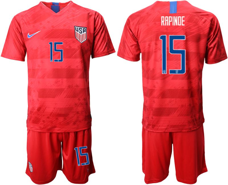 Men 2019-2020 Season National Team United States away 15 red Soccer Jerseys