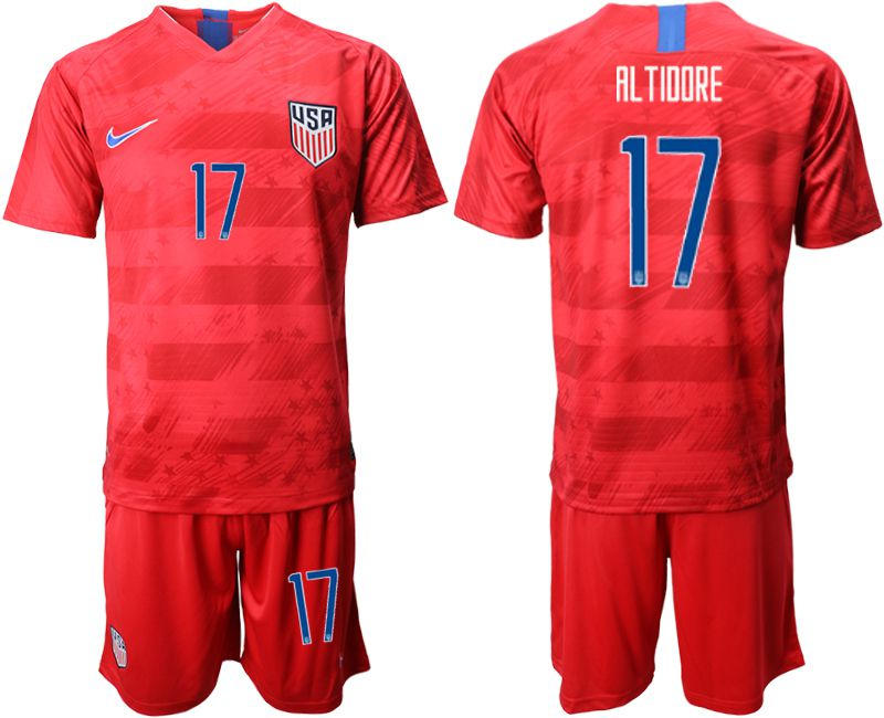 Men 2019-2020 Season National Team United States away 17 red Soccer Jerseys