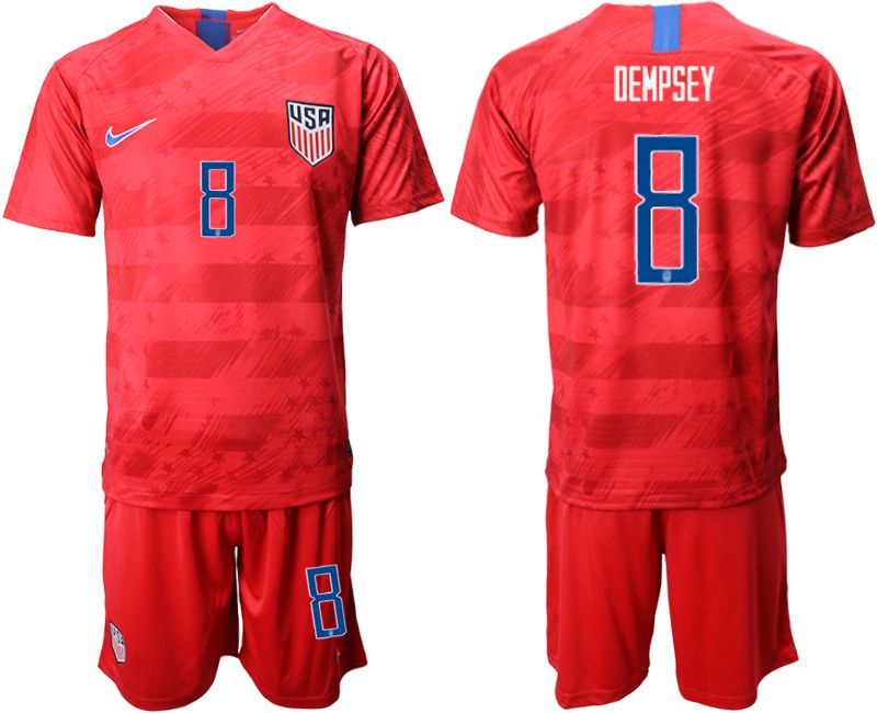 Men 2019-2020 Season National Team United States away 8 red Soccer Jerseys