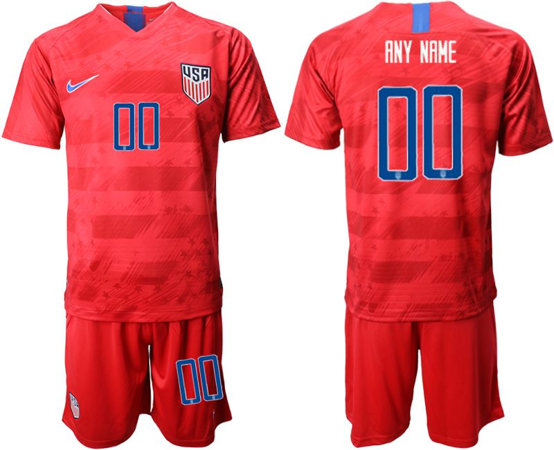Men 2019-2020 Season National Team United States away customized red Soccer Jerseys