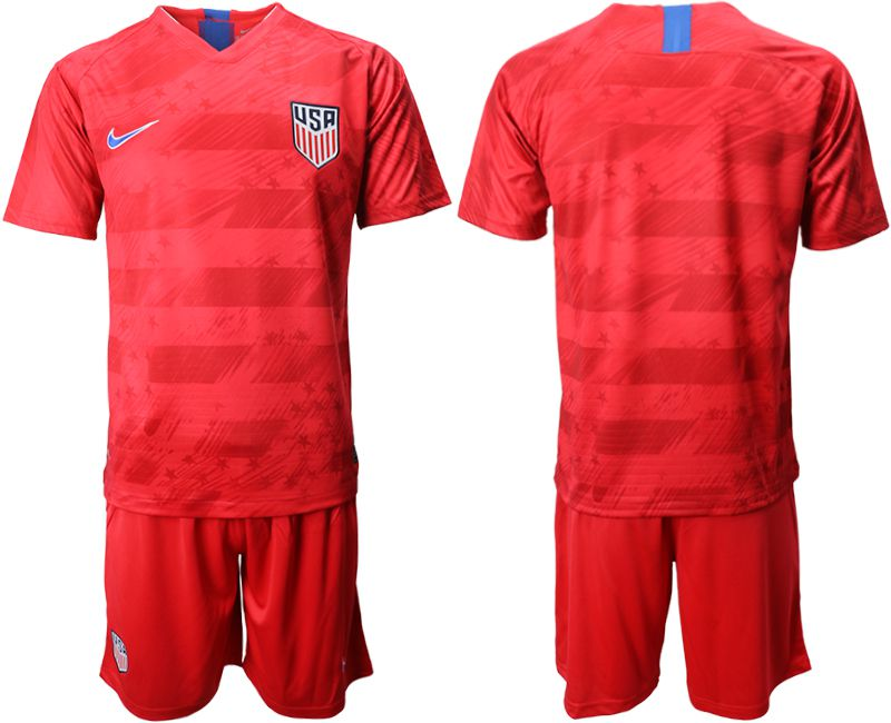 Men 2019-2020 Season National Team United States away red Soccer Jerseys
