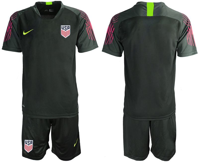 Men 2019-2020 Season National Team United States black goalkeeper Soccer Jerseys