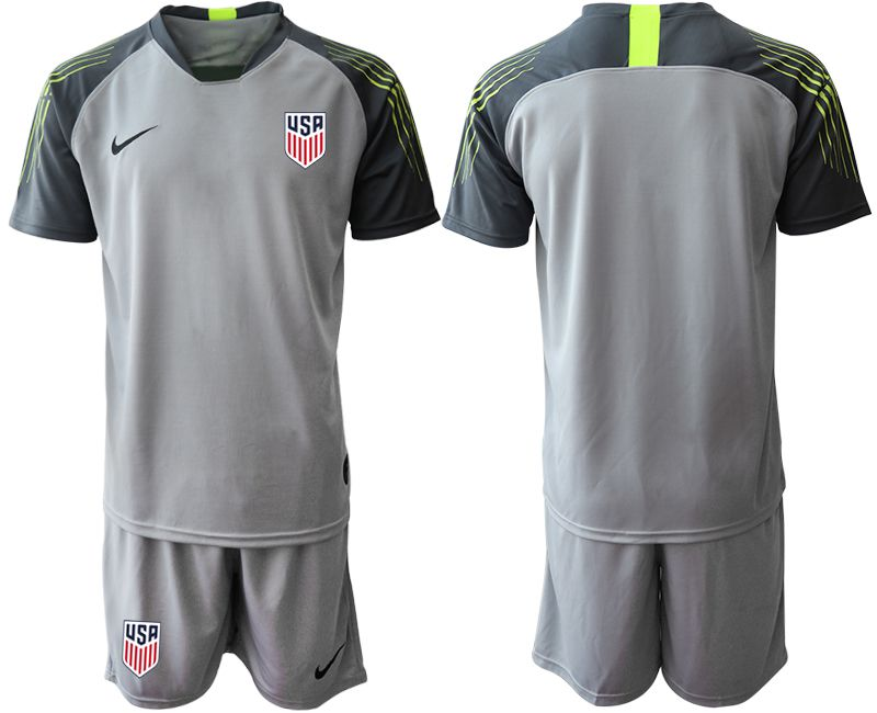 Men 2019-2020 Season National Team United States gray goalkeeper Soccer Jerseys