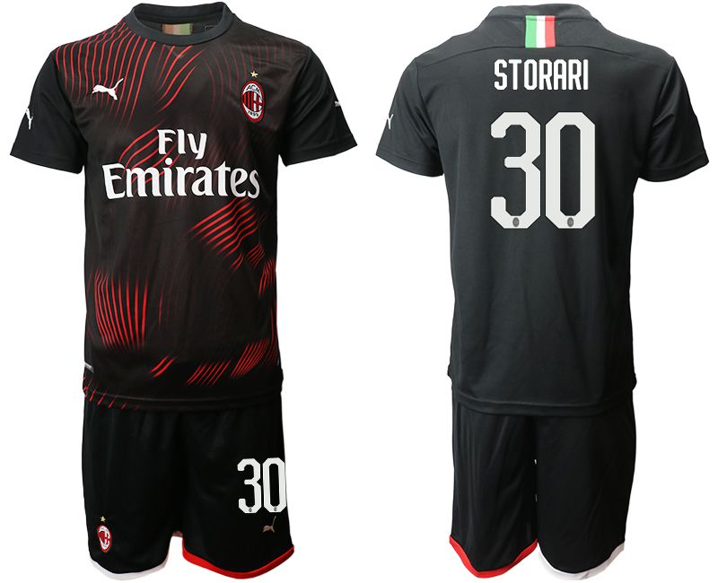 Men 2019-2020 club AC milan away 30 black Soccer Jerseys