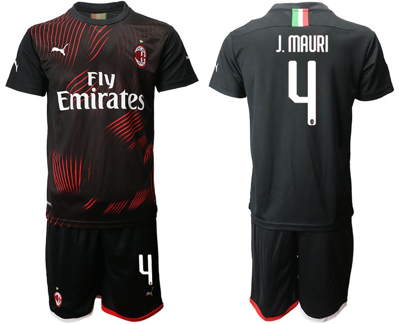 Men 2019-2020 club AC milan away 4 black Soccer Jerseys