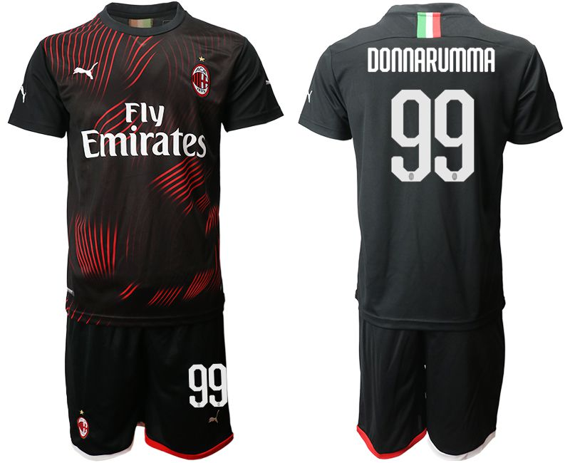 Men 2019-2020 club AC milan away 99 black Soccer Jerseys