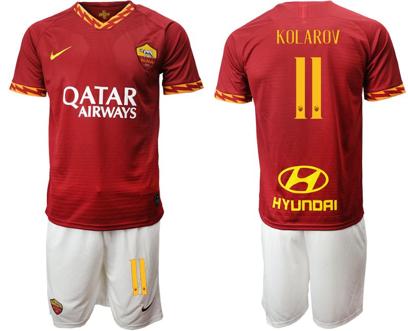 Men 2019-2020 club AS Roma home 11 red Soccer Jerseys