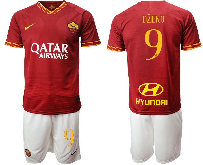 Men 2019-2020 club AS Roma home 9 red Soccer Jerseys