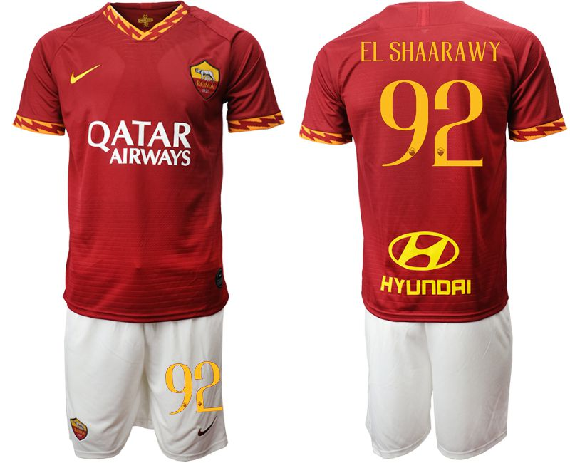 Men 2019-2020 club AS Roma home 92 red Soccer Jerseys