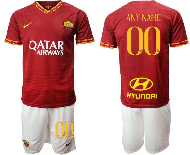 Men 2019-2020 club AS Roma home customized red Soccer Jerseys