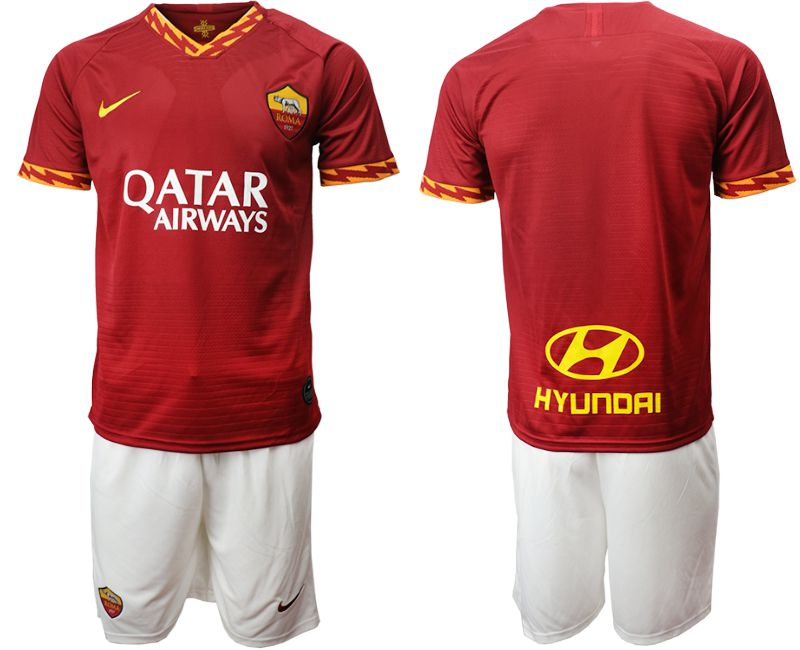 Men 2019-2020 club AS Roma home red Soccer Jerseys