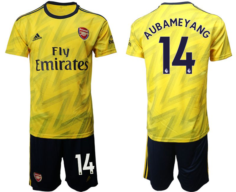 Men 2019-2020 club Arsenal away 14 yellow Soccer Jerseys
