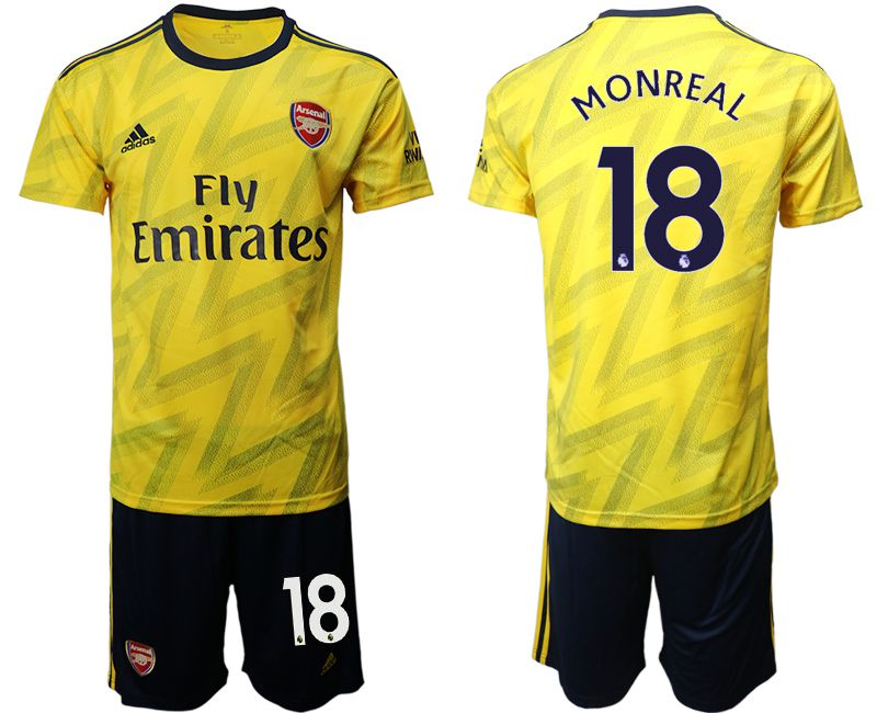 Men 2019-2020 club Arsenal away 18 yellow Soccer Jerseys