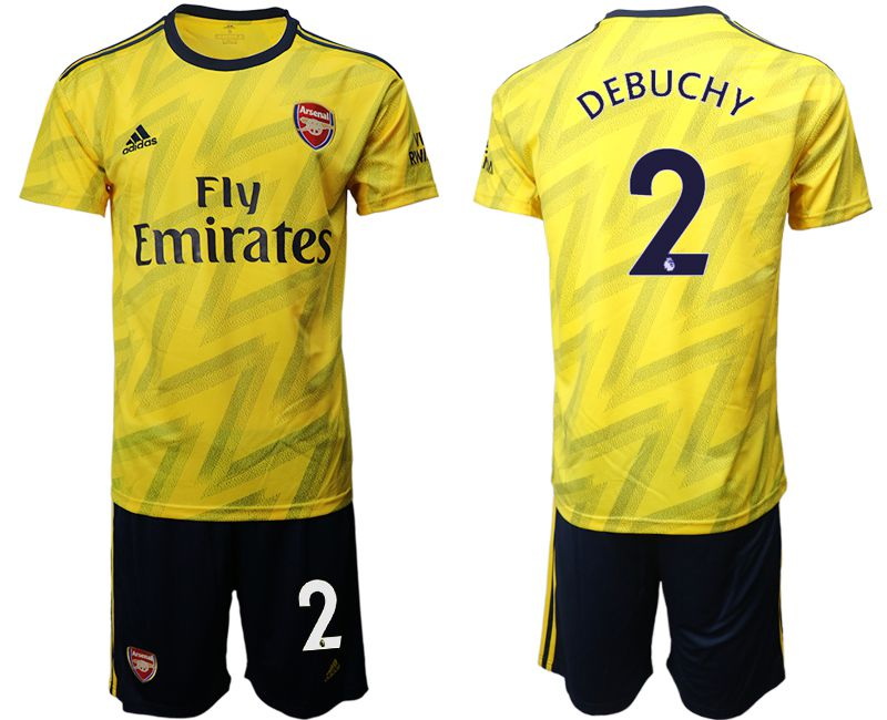 Men 2019-2020 club Arsenal away 2 yellow Soccer Jerseys