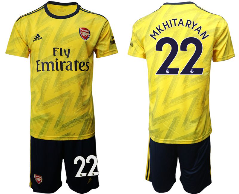 Men 2019-2020 club Arsenal away 22 yellow Soccer Jerseys