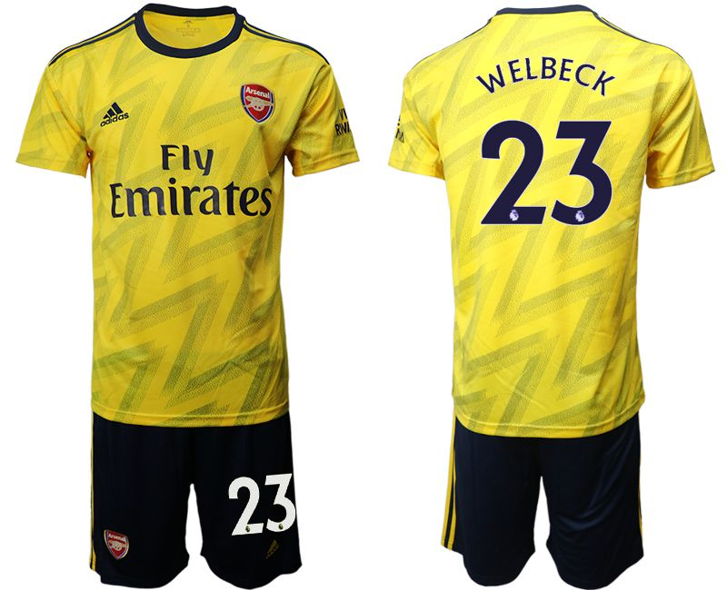 Men 2019-2020 club Arsenal away 23 yellow Soccer Jerseys