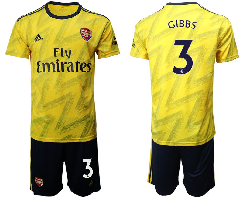 Men 2019-2020 club Arsenal away 3 yellow Soccer Jerseys