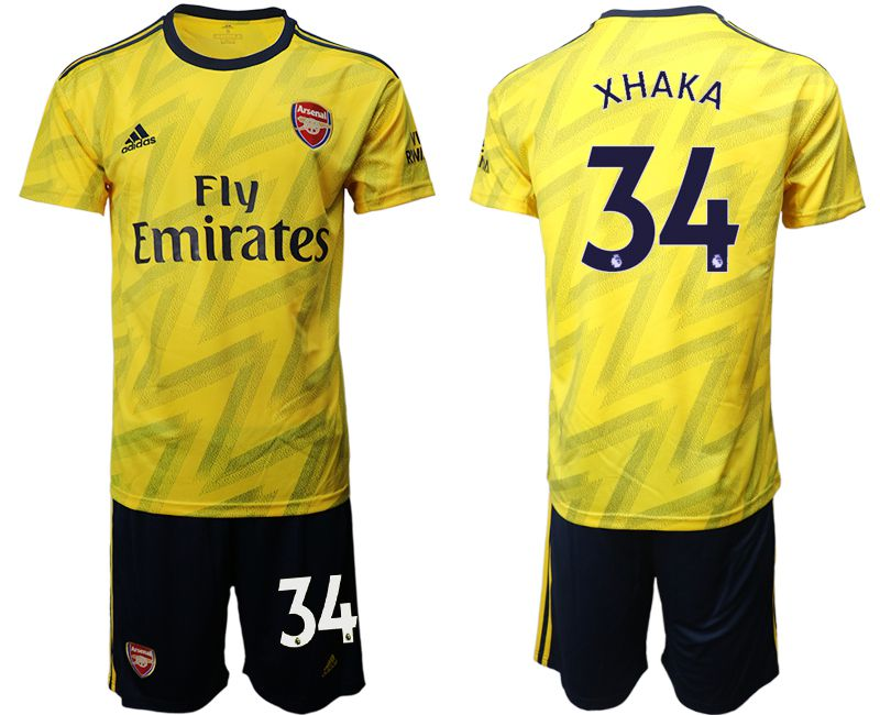 Men 2019-2020 club Arsenal away 34 yellow Soccer Jerseys