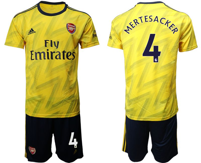 Men 2019-2020 club Arsenal away 4 yellow Soccer Jerseys