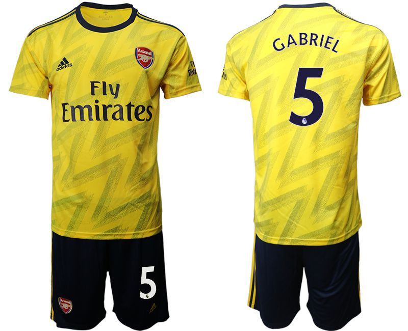 Men 2019-2020 club Arsenal away 5 yellow Soccer Jerseys