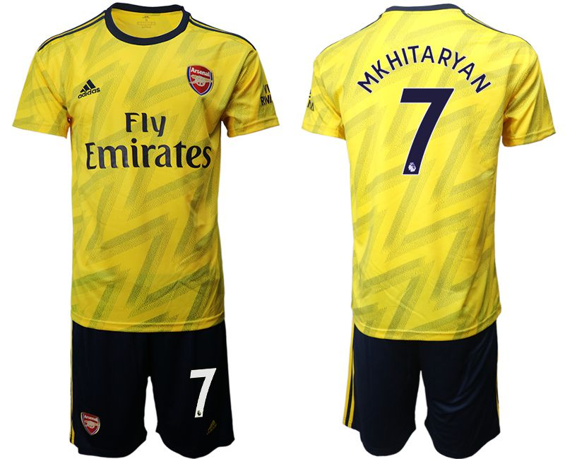 Men 2019-2020 club Arsenal away 7 yellow Soccer Jerseys