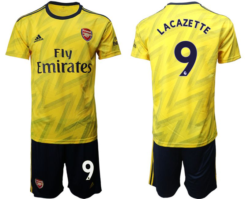 Men 2019-2020 club Arsenal away 9 yellow Soccer Jerseys