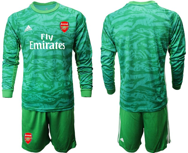 Men 2019-2020 club Arsenal green goalkeeper long sleeve Soccer Jerseys