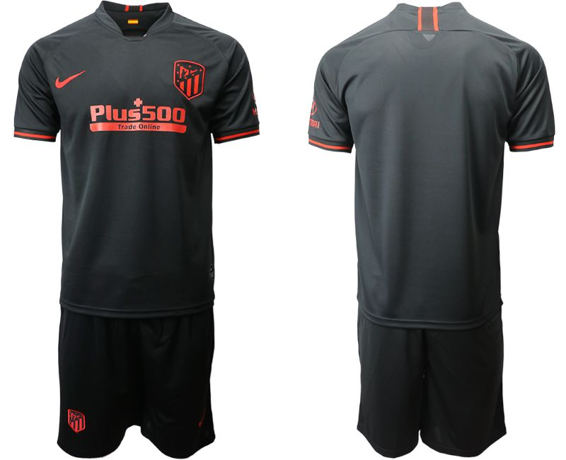 Men 2019-2020 club Atletico Madrid away black Soccer Jerseys