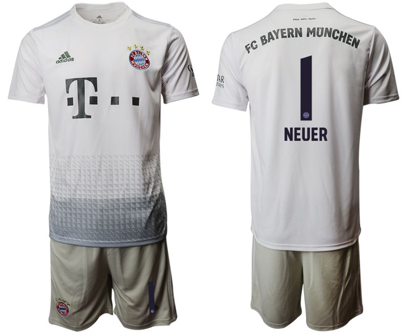 Men 2019-2020 club Bayern Munich away 1 grey Soccer Jerseys
