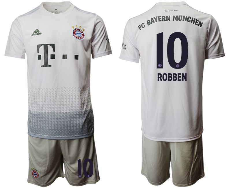 Men 2019-2020 club Bayern Munich away 10 grey Soccer Jerseys