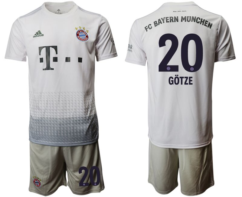 Men 2019-2020 club Bayern Munich away 20 grey Soccer Jerseys