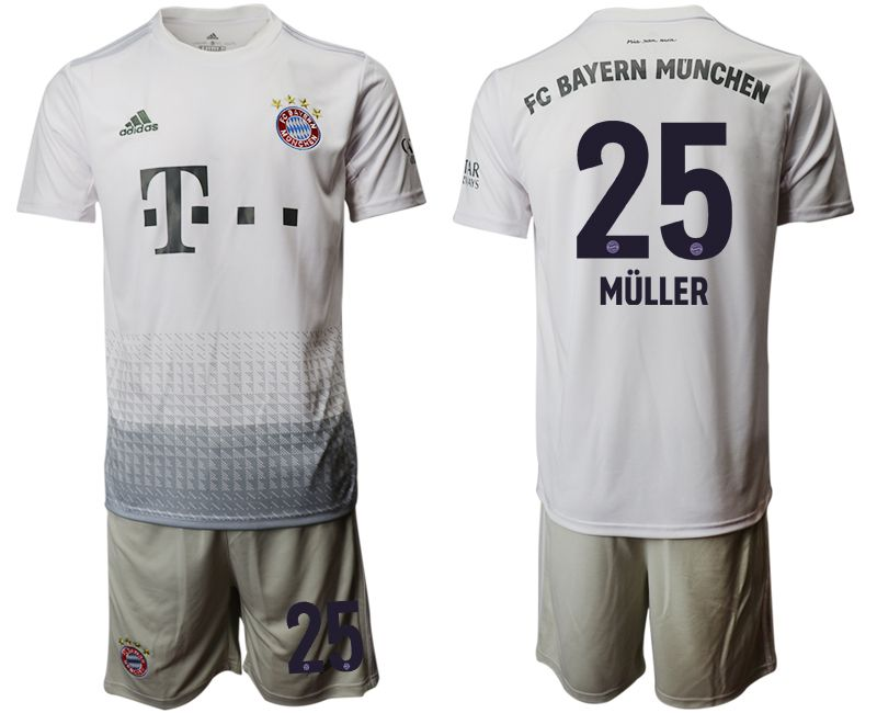 Men 2019-2020 club Bayern Munich away 25 grey Soccer Jerseys