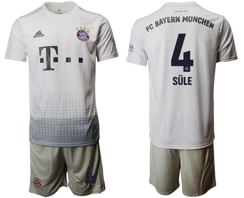 Men 2019-2020 club Bayern Munich away 4 grey Soccer Jerseys