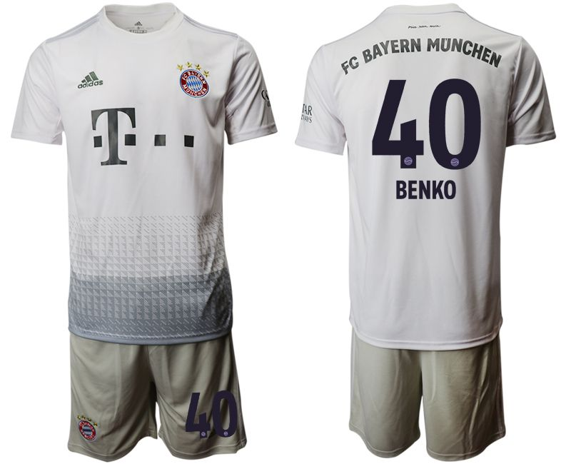 Men 2019-2020 club Bayern Munich away 40 grey Soccer Jerseys