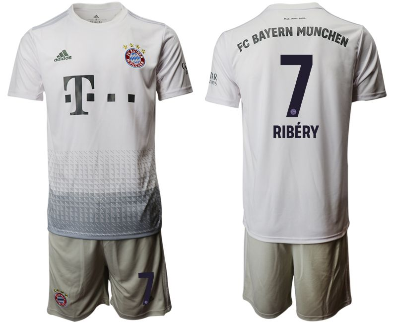 Men 2019-2020 club Bayern Munich away 7 grey Soccer Jerseys