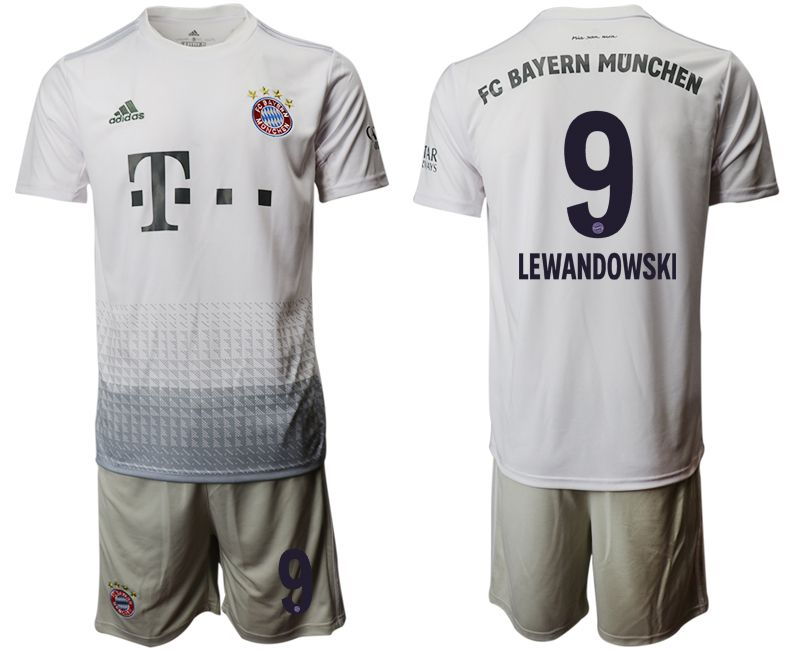 Men 2019-2020 club Bayern Munich away 9 grey Soccer Jerseys