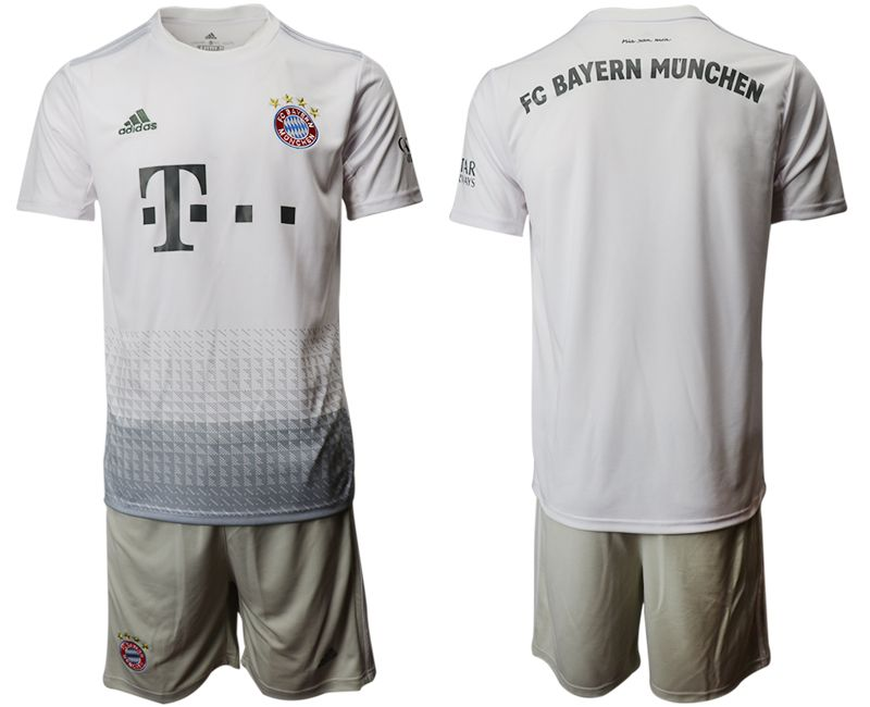 Men 2019-2020 club Bayern Munich away grey Soccer Jerseys
