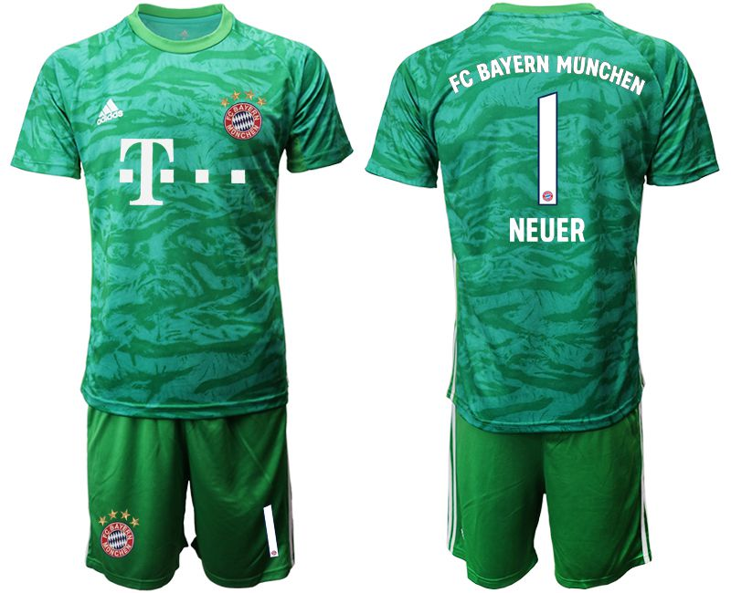 Men 2019-2020 club Bayern Munich green goalkeeper 1 Soccer Jerseys