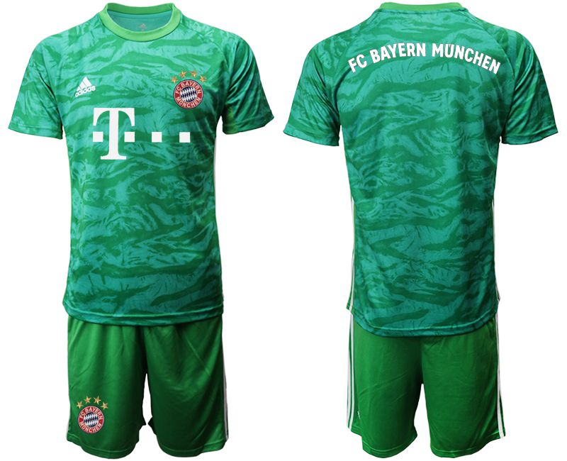 Men 2019-2020 club Bayern Munich green goalkeeper Soccer Jerseys