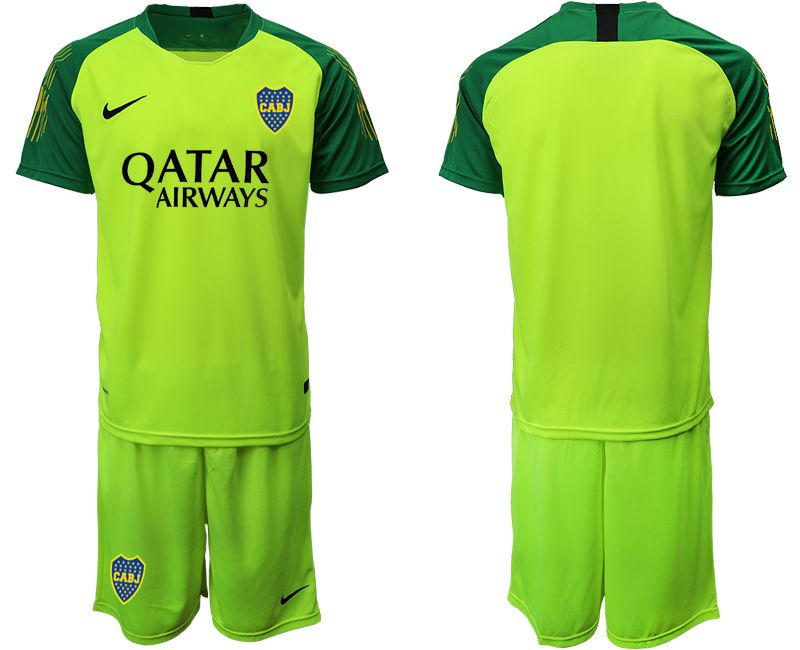 Men 2019-2020 club Boca Juniors fluorescent green goalkeeper Soccer Jerseys