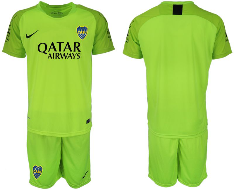 Men 2019-2020 club Boca Juniors fluorescent green goalkeeper Soccer Jerseys1