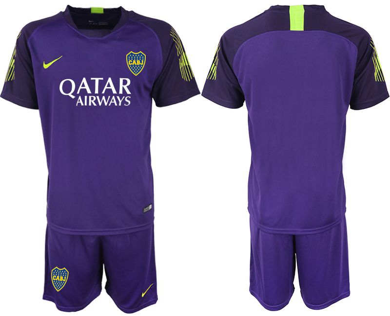 Men 2019-2020 club Boca Juniors purple goalkeeper Soccer Jerseys