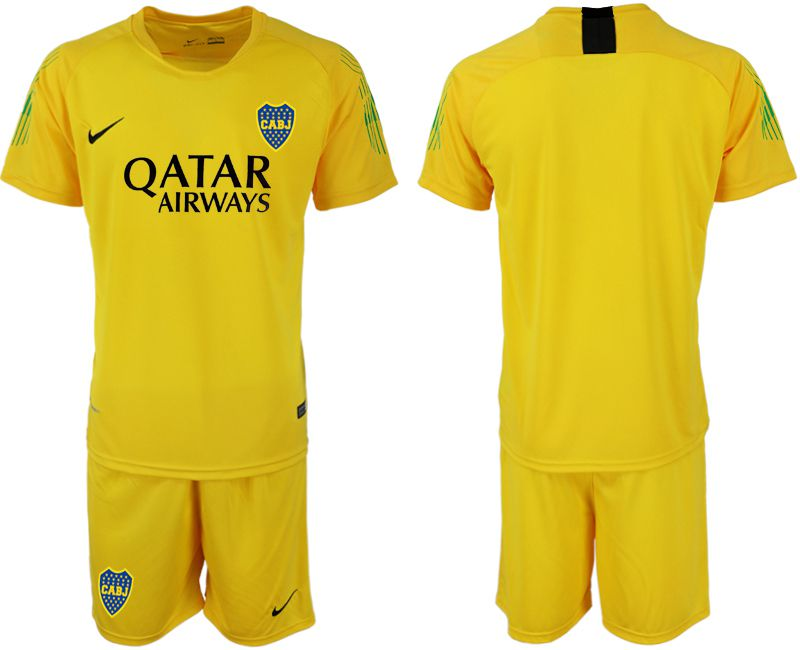 Men 2019-2020 club Boca Juniors yellow goalkeeper Soccer Jerseys