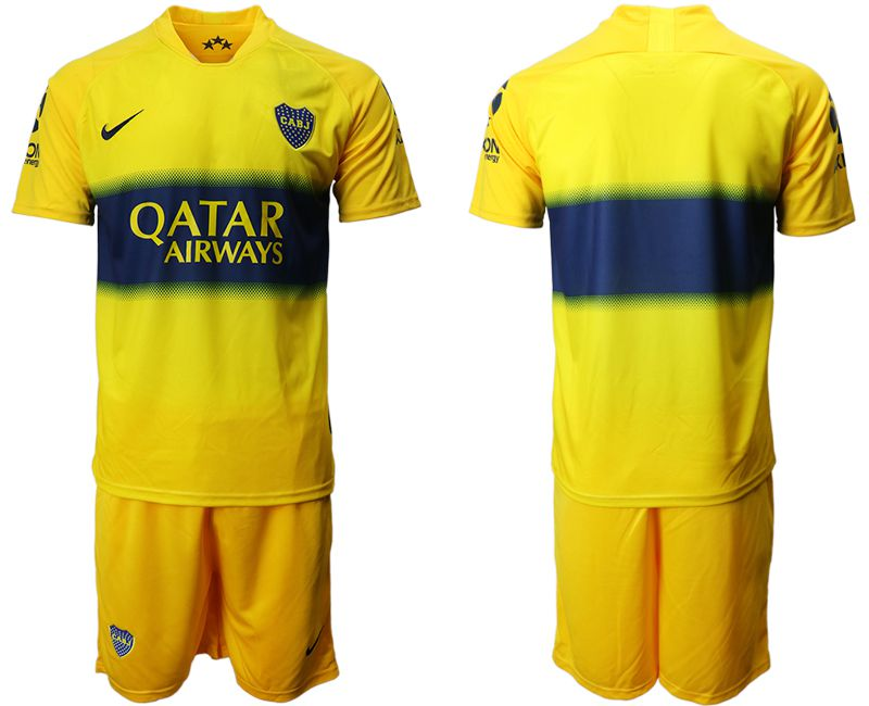 Men 2019-2020 club Boca juniors away yellow Soccer Jerseys